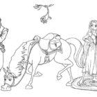 Rapunzel e Flynn da colorare