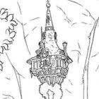 La torre di Rapunzel da colorare