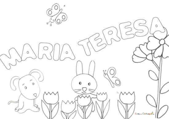 Nome Maria Teresa da colorare
