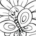 Disegno di fiore e farfalla