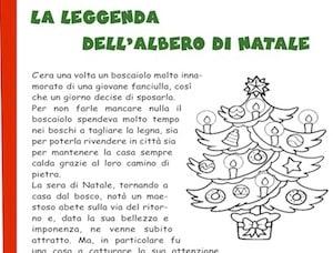 Immagini Dell Albero Di Natale Da Colorare.La Leggenda Dell Albero Di Natale Storia Per Bambini