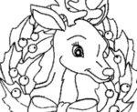 Disegno di renna di Natale