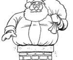 Babbo Natale nel camino da colorare