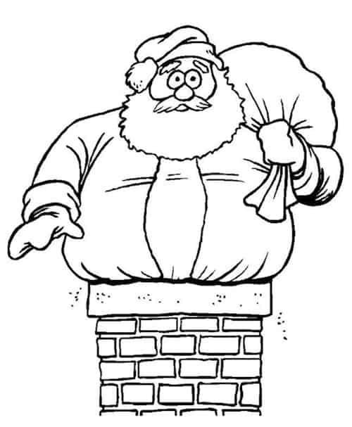 Immagini Da Colorare Babbo Natale.Disegno Di Babbo Natale Da Stampare Gratis E Colorare Per