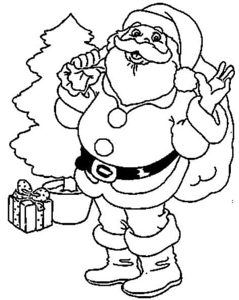 Immagini Di Babbo Natale Da Colorare E Stampare.Disegno Di Babbo Natale Da Stampare Gratis E Colorare Per