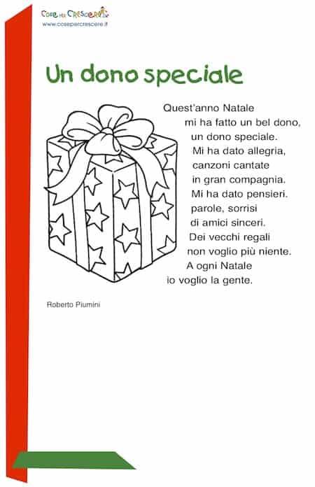 Poesie Di Natale Roberto Piumini.Un Dono Speciale Poesia Di Natale Per Bambini Da Stampare