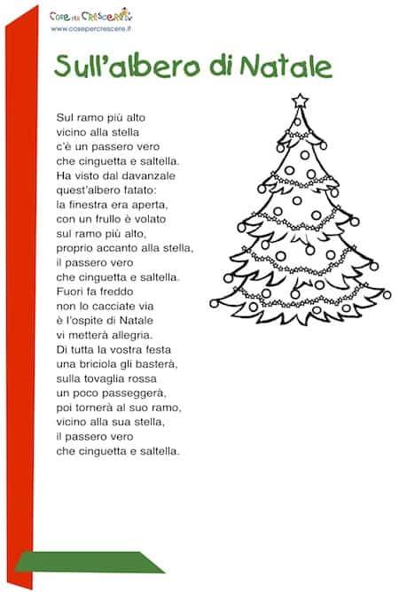 Poesie Di Natale Bimbi 5 Anni.Sull Albero Di Natale Poesia Per Bambini Da Stampare Scuola Primaria