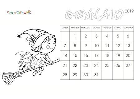 Calendario Annuale Da Stampare 2019.Calendario 2019 Per Bambini Cose Per Crescere