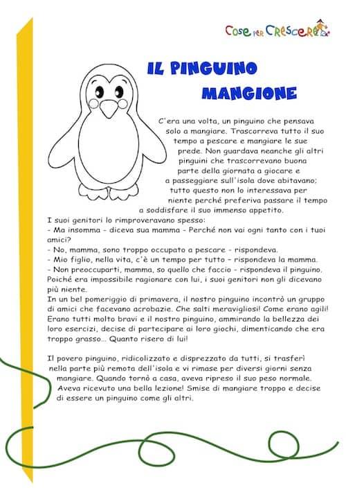 Il Pinguino Mangione Storia Per Bambini Da Stampare Gratis