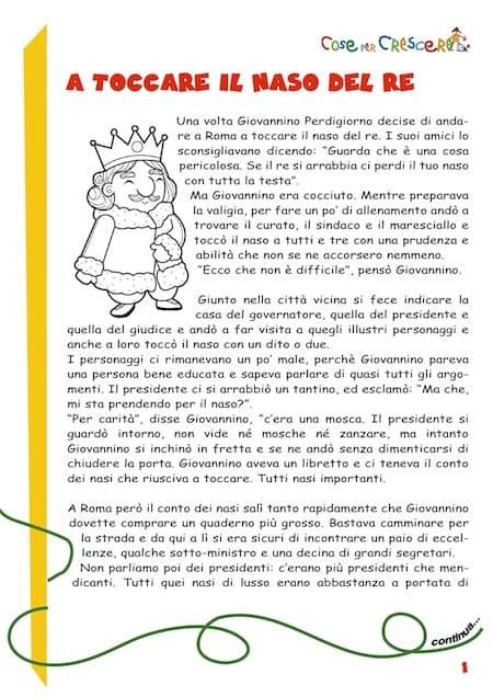 A Toccare I Naso Del Re Storia Per Bambini Di Gianni Rodari