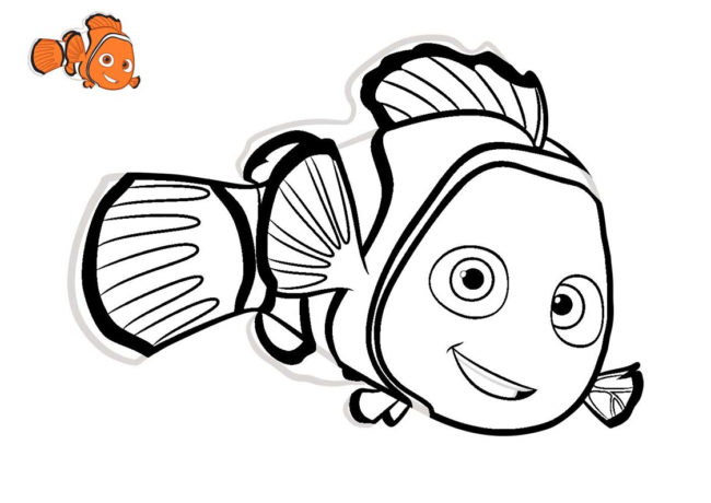 Nemo da colorare for Nemo disegni da colorare