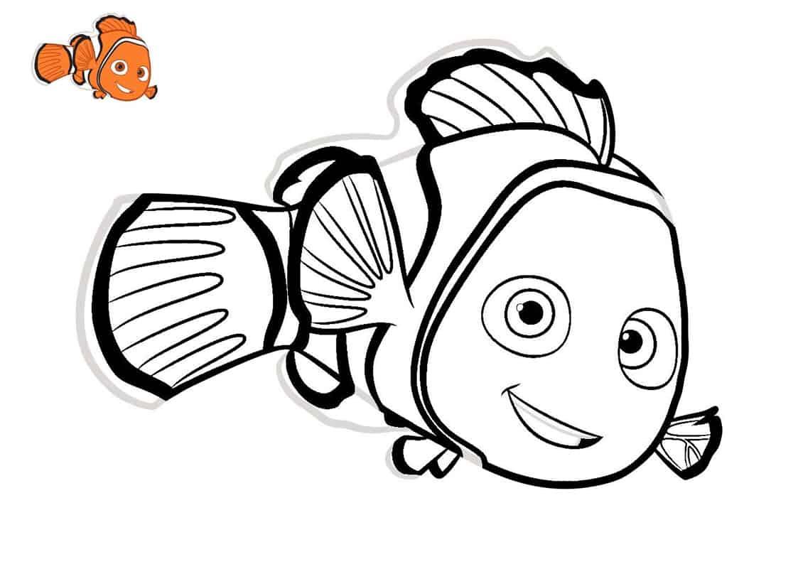Disegno Del Pesce Nemo Da Stampare Gratis E Da Colorare