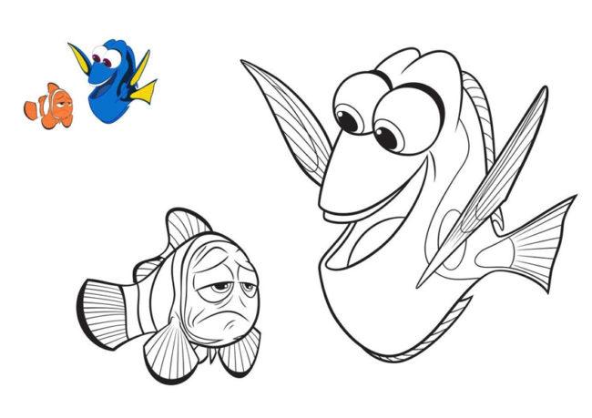 Disegno Di Nemo E Dory Da Stampare Gratis E Da Colorare