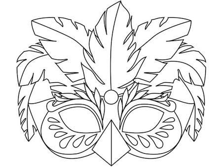 Disegno Di Maschera Di Carnevale Da Stampare Gratis E Colorare