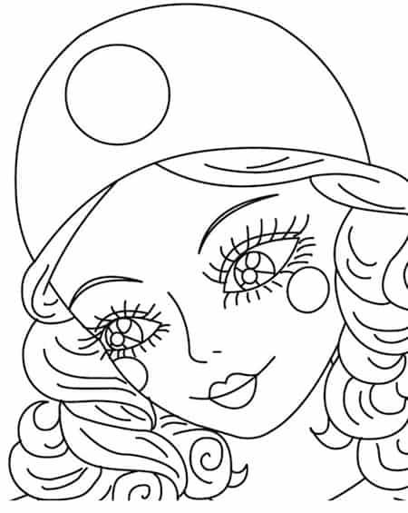 Disegno Del Ritratto Di Pierrot Da Stampare Gratis E Da Colorare Per