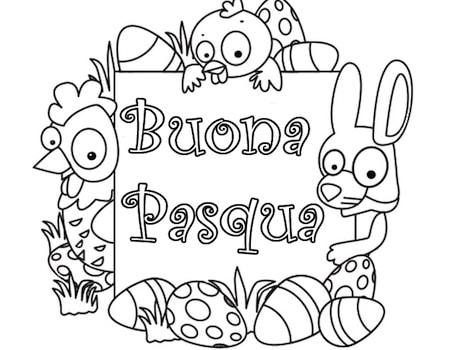 Disegno Epr Bambini Di Buona Pasqua Da Stampare E Colorare