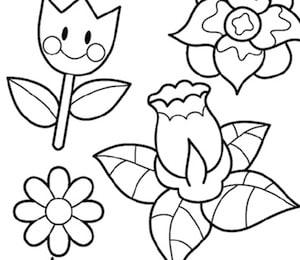Disegno Di Fiori Di Primavera Per Bambini Da Stampare Gratis