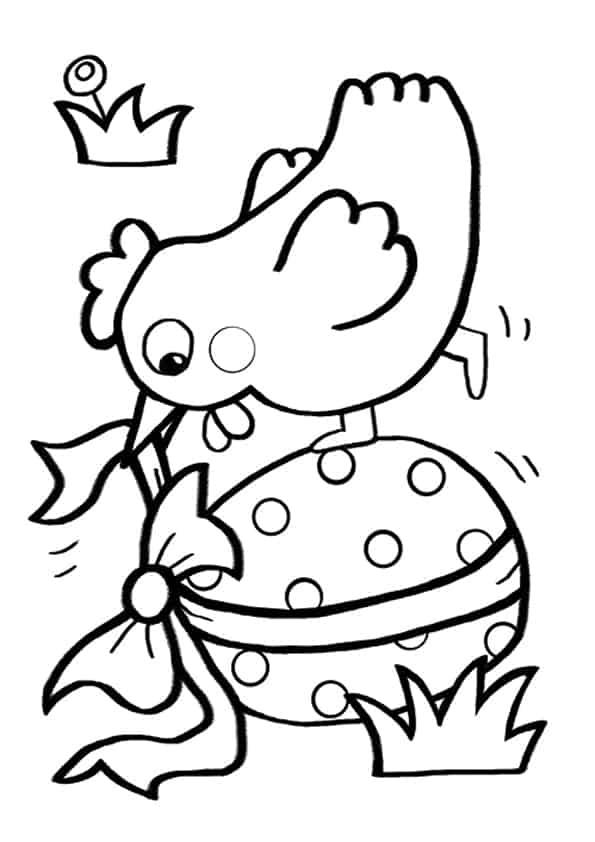 Disegno Di Gallina E Uovo Di Pasqua Da Stampare Gratis E
