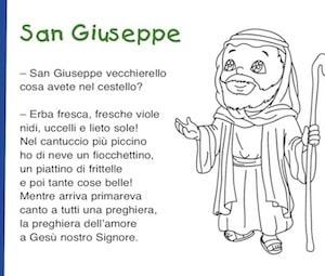 San Giuseppe Poesia Per Il 19 Marzo Festa Del Papa Per Bambini