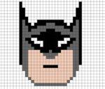 Disegno di Batman in Pixel Art