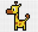 Giraffa in Pixel Art