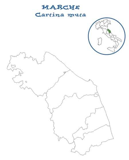 Cartina muta Marche
