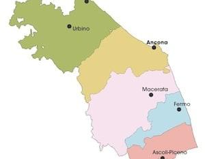 Marche Cartina Geografica Politica.Cartina Politica Marche Da Stampare Gratis Per La Scuola Primaria