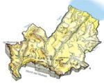 Cartina fisica del Molise