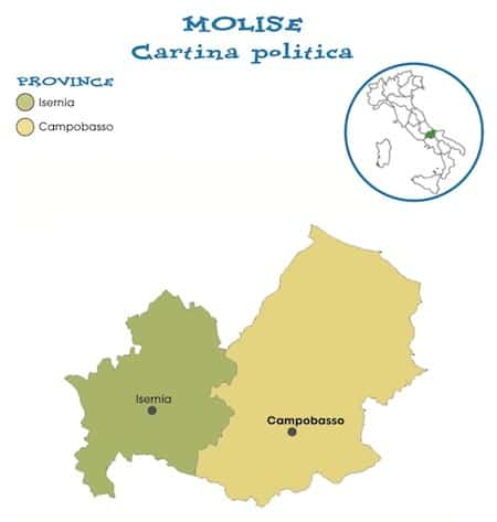 Cartina Regione Molise.Cartina Politica Molise Da Stampare Gratis Scuola Primaria Carta Geografia