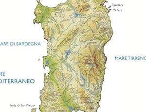 Cartina Montuosa Sardegna.Cartina Fisica Della Sardegna Da Stampare Gratis Per La Scuola Primaria