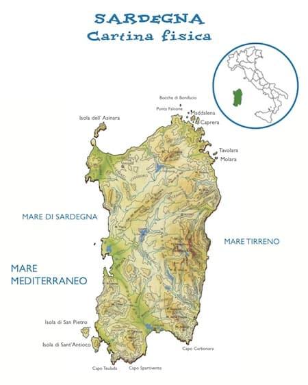 Cartina Sardegna Grande.Cartina Fisica Della Sardegna Da Stampare Gratis Per La Scuola Primaria