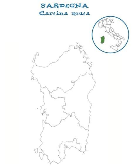 Cartina Sardegna Muta.Carina Muta Della Sardegna Da Stampare Gratis Scuola Primaria