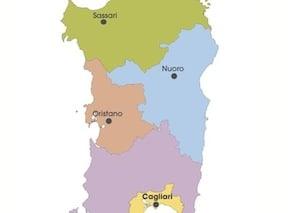 Cartina Sardegna Nurri.Cartina Politica Della Sardegna Da Stampare Gratis Per La Scuola Primaria