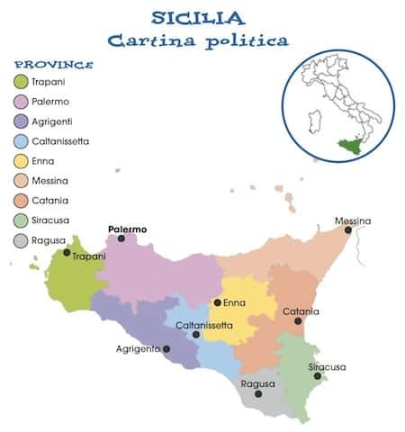 Immagini Cartina Fisica Sicilia.Palermo Cartina Fisica