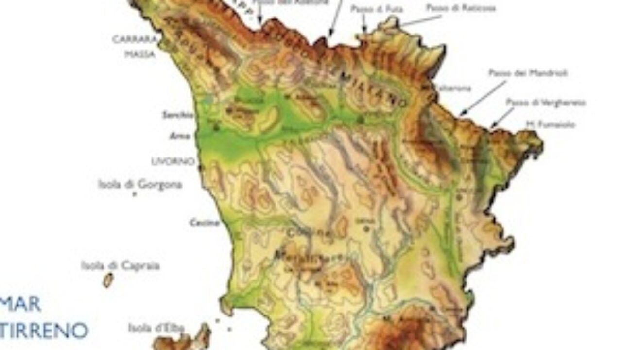 Cartina Politica Toscana.Cartina Fisica Toscana Da Stampare Gratis Scuola Primaria Geografica