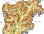 Cartina fisica del Trentino – Alto Adige