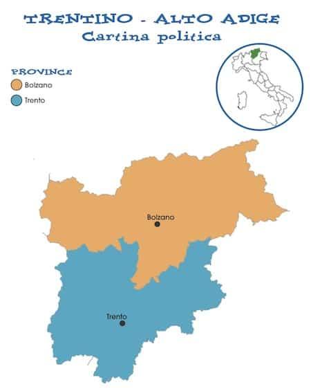 Cartina Del Trentino Alto Adige Politica.Cartina Politica Trentino Alto Adige Da Stampare Gratis Scuola Primaria