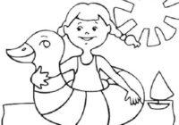 Disegni Sull Estate E Le Vacanze Per Bambini Da Colorare Da