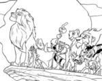 Disegno del Re Leone alla rupe del re