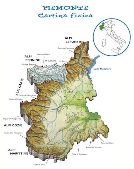 Cartina Fisica E Politica Del Piemonte.Cartina Fisica Piemonte Da Stampare Gratis Per La Scuola