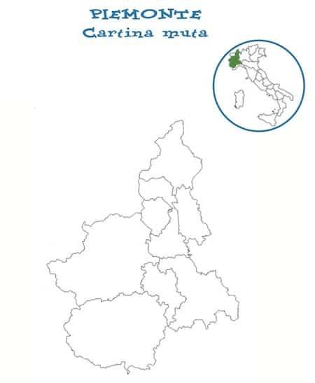 Cartina Piemonte Da Colorare.Cartina Muta Piemonte Da Stampare Gratis Scuola Primaria Geografica