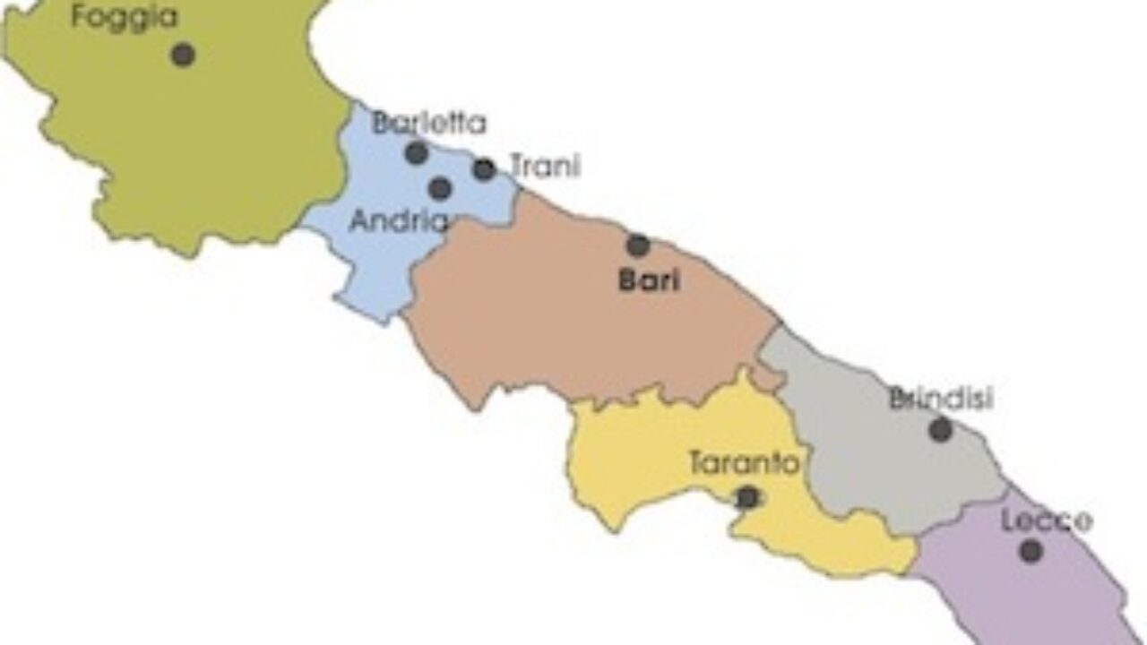 Cartina Puglia Noci.Cartina Politica Puglia Da Stampare Gratis Scuola Primaria Carta Geografica