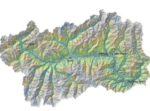 Cartina fisica della Valle d'Aosta