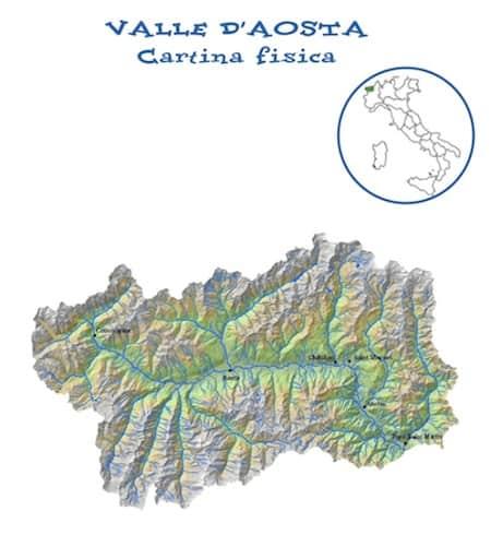 Valle D Aosta Cartina Politica.Cartina Fisica Valle D Aosta Da Stampare Gratis Carta Geografica