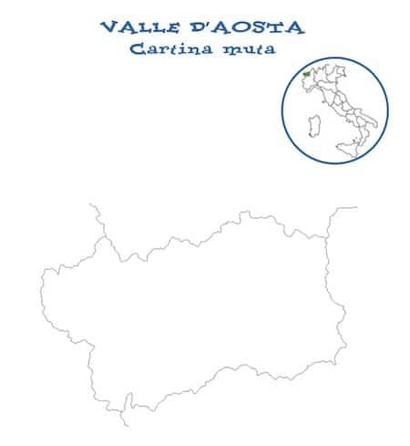 Cartina Valle D Aosta Da Colorare.Cartina Muta Valle D Aosta Da Stampare Gratis Carta Per La Scuola Primaria