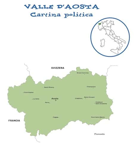 Cartina Della Valle D Aosta Politica.Cartina Politica Valle D Aosta Da Stampare Gratis Carta Geografica Scuola Primaria