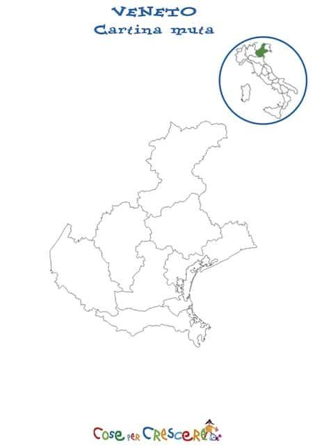 Cartina Fisica Del Veneto Da Stampare.Cartina Muta Del Veneto Da Stampare Gratis Carta Geografica Scuola Primaria