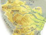 Cartina fisica della Basilicata