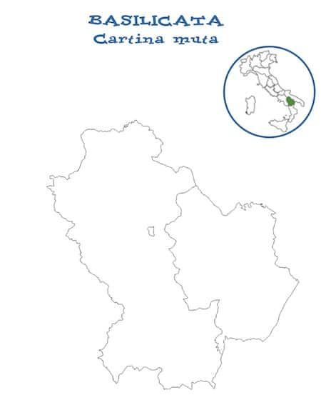 Cartina Geografica Regione Basilicata.Cartina Muta Della Basilicata Da Stampare Gratis Per La Scuola Primaria