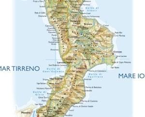Cartina Calabria E Basilicata.Cartina Fisica Della Calabria Per La Scuola Primaria Da Stampare Gratis